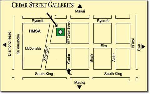 Cedar Street Galleries -- Directions on