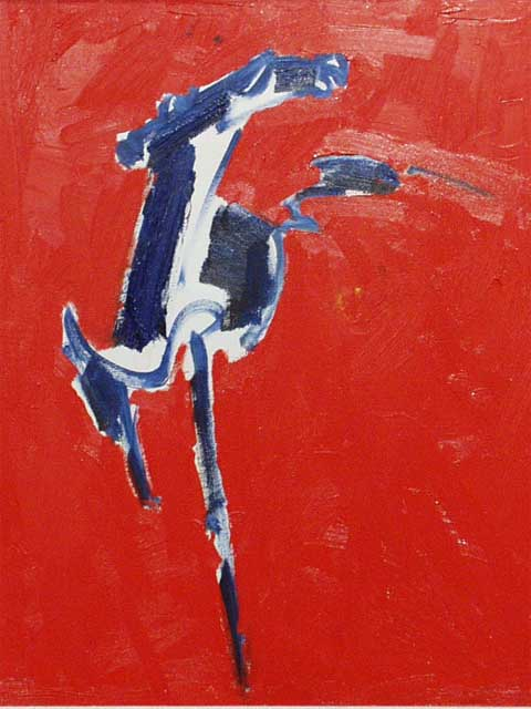 Red - Blue Horse  by John Young (1909-1997)