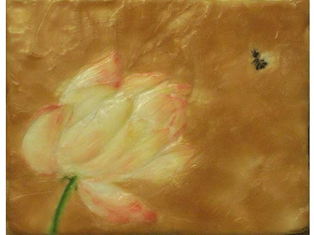 Lotus With Bee 1 by Noe Tanigawa