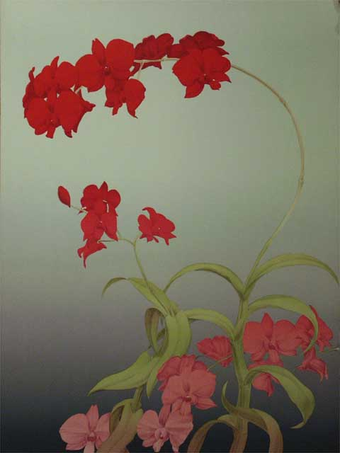 Red Orchid 42/100 by Ken Bushnell