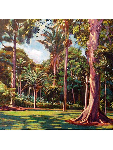 Mid Day At Foster Gardens by Arthur Johnsen (1952-2015)