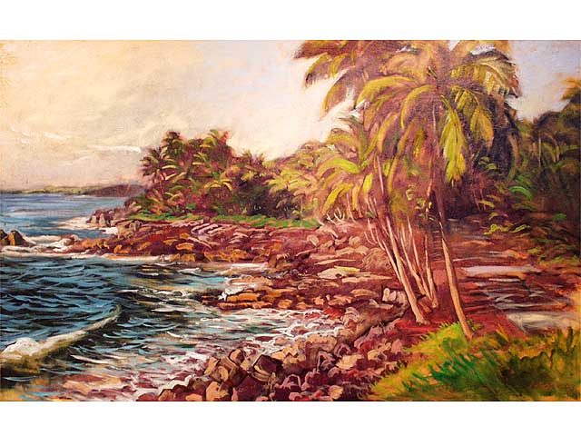 Morning on the Puna Coast by Arthur Johnsen (1952-2015)