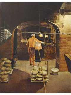 Brick Oven by Gary Reed (1948-2015)