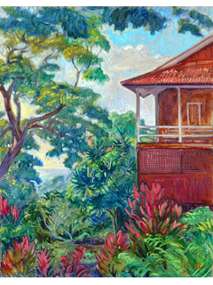 Church at Keauhou - Mauka by Arthur Johnsen (1952-2015)