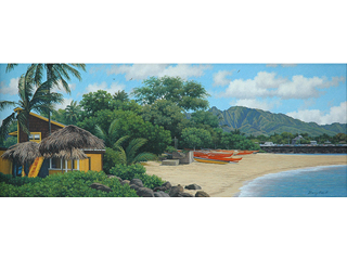Haleiwa by Gary Reed (1948-2015)