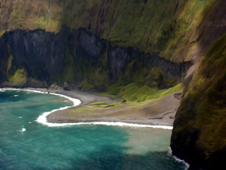 Cliff at Moloka'i by Donna Ruzicka