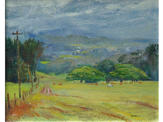 Morning in Makawao on Maui by Fred  Salmon