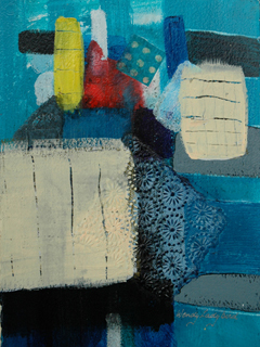 Blue Abstract #2 by Wendy Ladybird Hickey