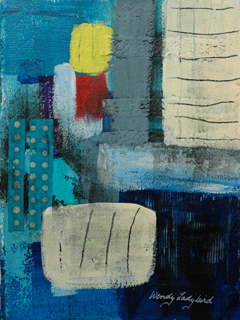 Blue Abstract #3 by Wendy Ladybird Hickey