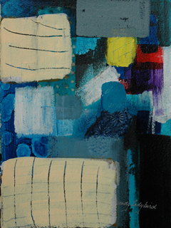 Blue Abstract #4 by Wendy Ladybird Hickey