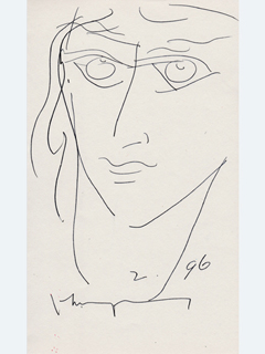 Untitled:  Face by John Young (1909-1997)