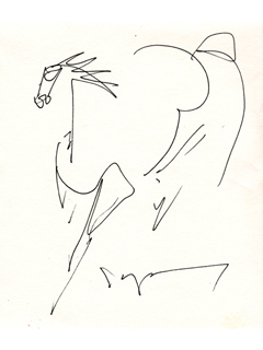 Untitled:  Horse by John Young (1909-1997)