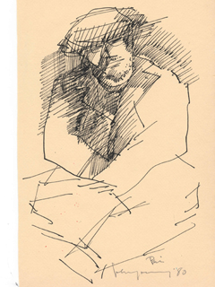 Untitled:  Seated Man by John Young (1909-1997)