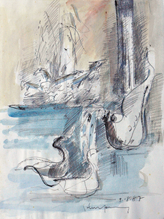 Untitled: Trevi Fountain by John Young (1909-1997)