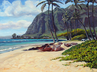 Kaawa Shoreline Palms by Lynne Boyer