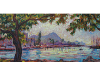 View Of Diamond Head From Magic Island by Arthur Johnsen (1952-2015)