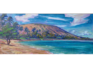 Koko Head from Portlock Beach by Arthur Johnsen (1952-2015)
