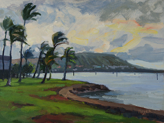 Hawaii Kai Morning Study by Lynne Boyer