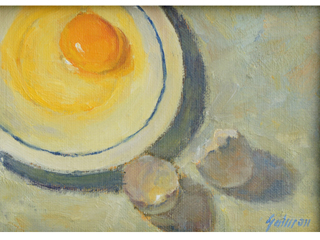 Yolk on a Saucer by Fred  Salmon