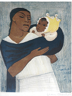 Mother & Child by Jean Charlot (1898-1979)