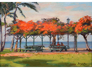 Red Waikiki Shade by Lynne Boyer