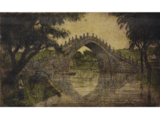 Bridge to Summer Palace - Peking by Charles Bartlett (1860-1940)