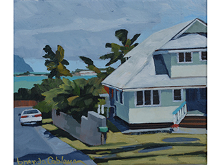 House Along The Bay 2 by Brenda Cablayan