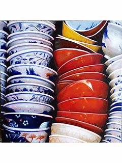 Buying Dishes in Chinatown 1 by Sandra Blazel