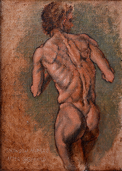 Male Nude - Back View by Snowden Hodges