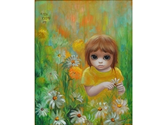 Untitled (Girl with daisies) by Margaret Keane